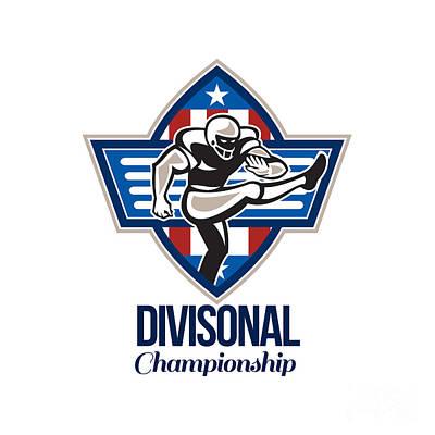 American Football Divisional Championship Print by Aloysius Patrimonio