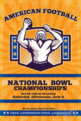 American Football National Bowl Poster Art Print by Aloysius Patrimonio