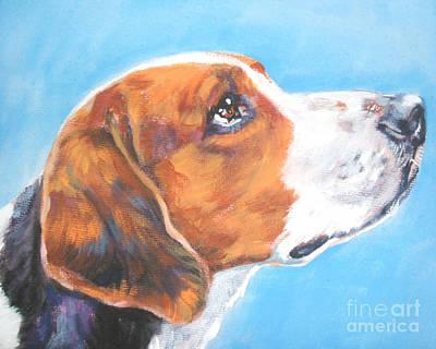 American Foxhound Print by Lee Ann Shepard