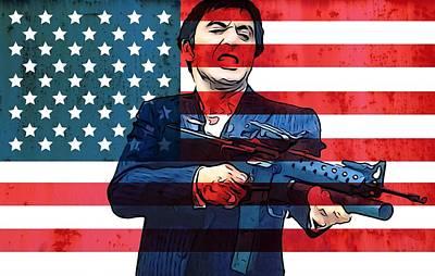American Gangster Tony Montana Print by Dan Sproul