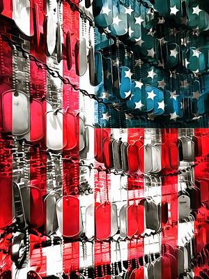Usa Flag Mixed Media - American Heroes by Dan Sproul