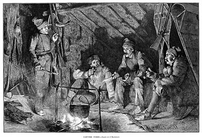 Cabin Interiors Painting - American Hunters, 1885 by Granger