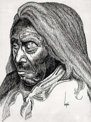 American Indian Sitting Bull  Original by Louise Saucer