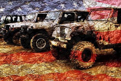 Tough Photograph - American Jeeps by Luke Moore