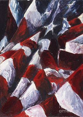 American Flag Painting - American Landscape One by Francine Stuart