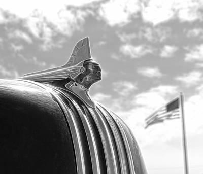 1948 Pontiac Chief Photograph - American Made Black And White by Steve McKinzie