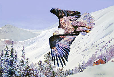 American Eagle Painting - American Majesty  by David Lloyd Glover