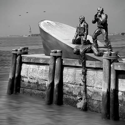 Statue Of Liberty Digital Art - American Merchant Mariners Memorial by Mike McGlothlen