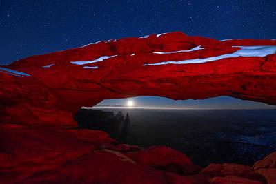 Moon Photograph - American Moonrise by Dustin  LeFevre