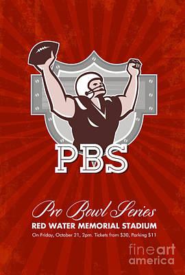 American Pro Football Bowl Retro Poster Art Print by Aloysius Patrimonio