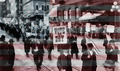 Liquor Mixed Media - American Prohibition March by Dan Sproul