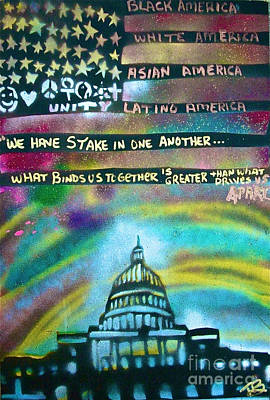 Occupy Painting - American Rainbow by Tony B Conscious