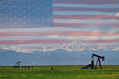 Oil Photograph - American Rocky Mountain Front Range Oil by James BO  Insogna