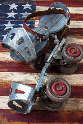 American Roller Skates Print by Garry Gay