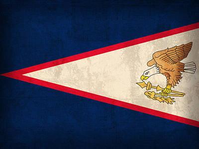 American Samoa Flag Vintage Distressed Finish Print by Design Turnpike