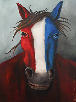 Independence Day Painting - American Spirit by Leah Saulnier The Painting Maniac