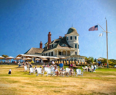 Americana At The Castle Hill Inn Print by Vicki Jauron