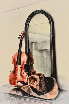 Violin Digital Art - Americana - Fiddle And Hat by Bill Cannon