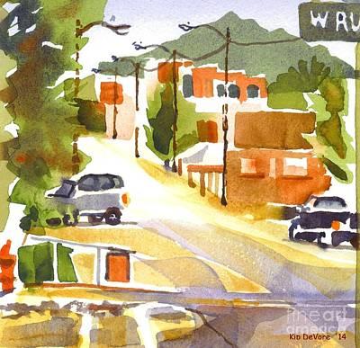 Main Street Corners Painting - Americana by Kip DeVore