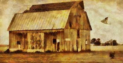 Depression Painting - Americana Old Barn by Dan Sproul