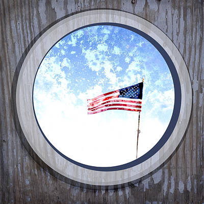 Us Flag Digital Art - Americana Usa Flag by Ann Powell