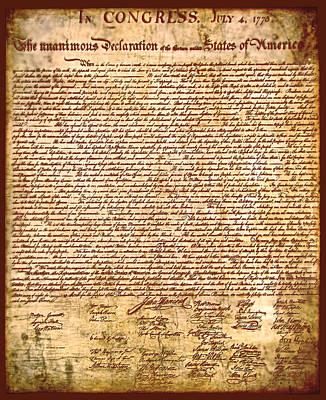 America's Declaration Of Independence  Print by Li   van Saathoff