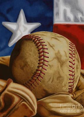 Baseball Drawing - America's Pastime 2 by Cory Still