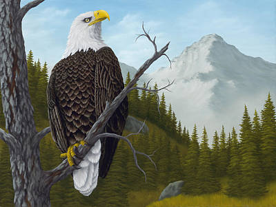 Raptor Painting - America's Pride by Rick Bainbridge