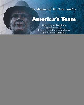 America's Team Poetry Art Print by Stanley Mathis