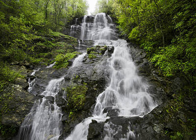 Whitewater Photograph - Amicalola Falls by Debra and Dave Vanderlaan