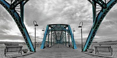 Duotone Photograph - Amid The Bridge by Steven Llorca