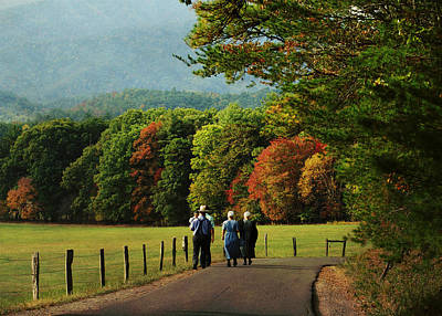 Amish Photograph - Amish Autumn by TnBackroadsPhotos