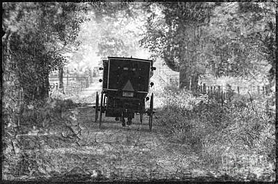 Amish Photograph - Amish Buggy Sunday Morning 2011 by David Arment
