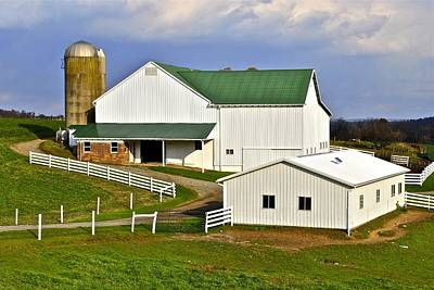Amish Country Barn Print by Frozen in Time Fine Art Photography
