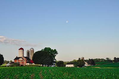 Pennsylvania Barns Digital Art - Amish Farm - Lancaster County by Bill Cannon