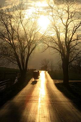Amish Road Print by Doug Hoover
