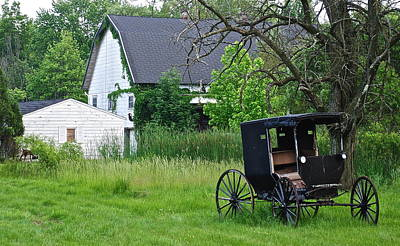 Amish Way Of Life Print by Frozen in Time Fine Art Photography