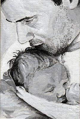 Amit And Mika Print by Tamir Barkan