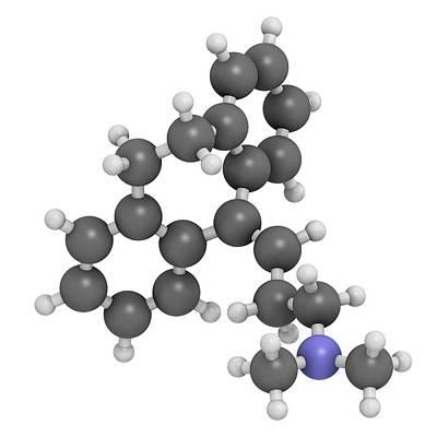 Amitryptiline Tricyclic Antidepressant Print by Molekuul