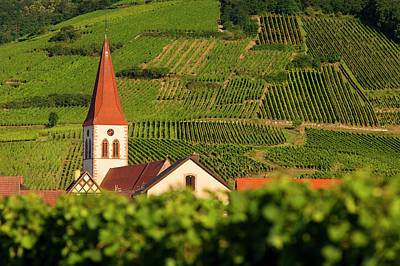 Grand Cru Photograph - Ammerschwihr Church And Bell Tower Rise by Brian Jannsen