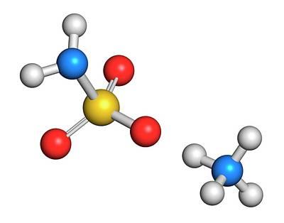 Ammonium Sulfamate Herbicide Molecule Print by Molekuul