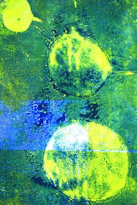 Microscopic Painting - Amoeba Abstract Art by Nancy Merkle