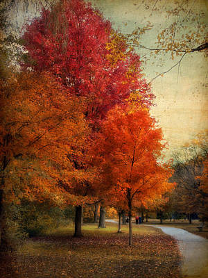 Walkway Digital Art - Among The Maples by Jessica Jenney