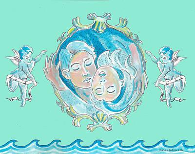 Painting - Amor In Aqua by John Keaton