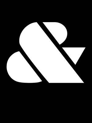 Ampersand Black And White Print by Naxart Studio