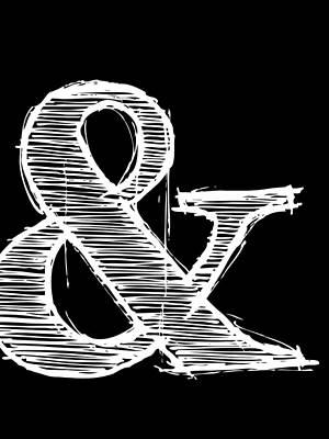 Famous Digital Art - Ampersand Poster 2 by Naxart Studio