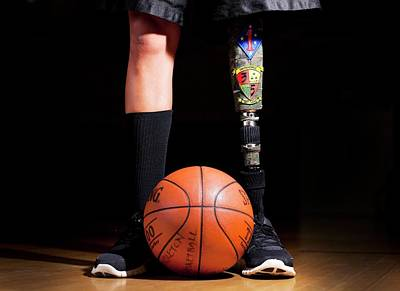 Disabled Sports Photograph - Amputee Basketball Athlete by Us Air Force/mark Fayloga