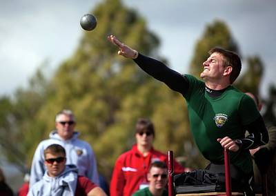 Disabled Sports Photograph - Amputee Shot Put Athlete by Us Air Force/mark Fayloga