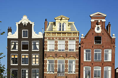 Amsterdam - Gables Of Old Houses At The Herengracht Print by Olaf Schulz