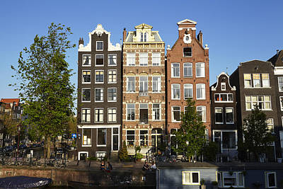 Amsterdam - Old Houses At The Herengracht Print by Olaf Schulz